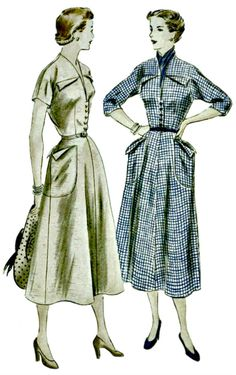 1949 Sewing Pattern  Day Frock with by ShellMakeYouFlip on Etsy