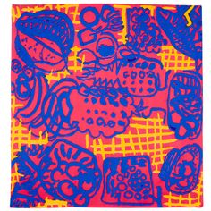 Scarf textile design, reproduced from 1947 original for the Tate shop, United Kingdom, 2015, by Patrick Heron.