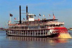 EE.UU., l'un des derniers Bateau Vapeur le Natchez sur le Mississippi en Louisiane