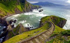 A cool place to hike in Spain - Northern Spain next to Bilbao... Place called Gaztelugatxe.