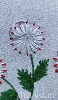 Hand Embroidery Patterns Flowers, Hand Embroidery Videos, Embroidery Stitches Tutorial, Embroidery Flowers Pattern, Hand Embroidery Designs, Beaded Embroidery, Crewel Embroidery, Embroidered Flowers, Snowflake Embroidery