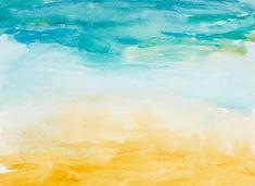 Beach days watercolour Beach House Art from $49.99 | http://www.wallartprints.com.au/ #BeachHouseDécor #WallArtPrints
