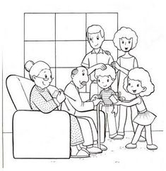 Family Coloring Page Get This Easy Pages For Preschoolers Printable Mermai. - Family Coloring Page Get This Easy Pages For Preschoolers Printable Mermaid Kids Angels Easte - Family Coloring Pages, Coloring Sheets For Kids, Cat Coloring Page, Coloring Pages To Print, Coloring Pages For Kids, Coloring Books, Kids Coloring, Family Picture Drawing, Preschool Family