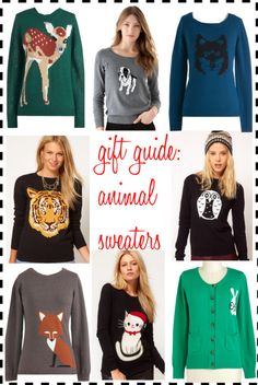 gift guide: animal sweaters