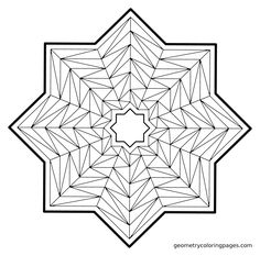 Geometry Coloring Pages: A Coloring Book of Self-Discovery Pattern Coloring Pages, Mandala Coloring Pages, Coloring Book Pages, Coloring Sheets, Geometric Mandala, Geometric Designs, Color Me Badd, Free Adult Coloring, Zentangle Patterns