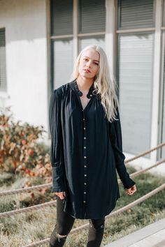 Free People: Lieutenant Shirt Dress