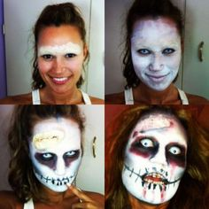 Halloween Zombie Makeup Tutorial, transformation complete! Dropdeadgorgeous #zombiefashionshow #zombiecrawl