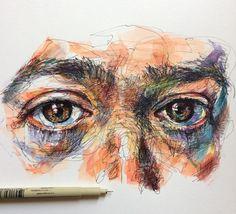 Malerische Kunstwerke von Noel Badget Pugh – A Level Art Sketchbook - Water Art Sketches, Art Drawings, Outline Drawings, Gcse Art Sketchbook, Sketching, Art Alevel, A Level Art, Wow Art, Portrait Art