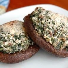Portobello Mushrooms Stuffed with Spinach and Goat Cheese Recipe