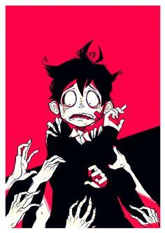 Drag me to hell by Naimane on DeviantArt Cute Art Styles, Cartoon Art Styles, Dessin Old School, Vent Art, Arte Obscura, Grunge Art, Sad Art, Creepy Art, Art Reference Poses