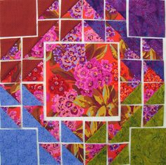 Robin Atkins, shimmer quilt, block construction