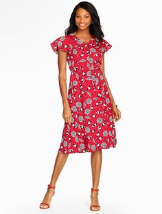 Beach Umbrella Print Dress - Talbots
