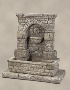 Spqr Fountain with Step A beautiful and charming accent to place in your garden setting, the Spqr Fountain with Step is a detailed and classical feature. The brick-like pattern of this fountain make i Modern Fountain, Diy Fountain, Fountain Design, Waterfall Fountain, Garden Fountains, Thermocol Craft, Indoor Tabletop Water Fountain, Indoor Water Features, Diy Crafts Tools