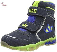 Lico Snow V Blinky, Bottes de Neige Garçon, Bleu (Marine/Lemon), 33 EU - Chaussures lico (*Partner-Link)