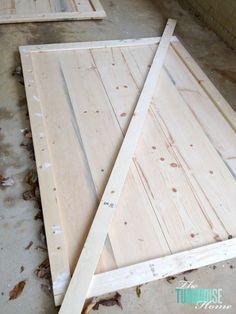 DIY Simple Sliding Barn Doors   TheTurquoiseHome.com