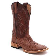 Men's Stetson Ostrich Tobacco Boot at Maverick Western Wear