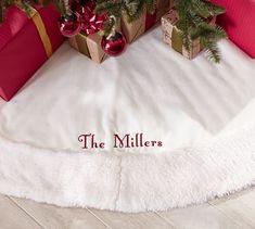 7f8d0b3dcc6 Faux Fur Tree Skirts, Ivory Sheepskin Faux Fur Tree Skirt, White Christmas,  Christmas