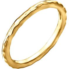 14kt Yellow Hammered Stackackable Ring Size 7