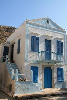 Greece Travel Inspiration - House in Pedi, Symi Island Beautiful Islands, Beautiful World, Beautiful Places, Greece Architecture, Places Worth Visiting, Greek Design, Greek House, Greece Islands, Exotic Places