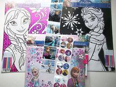 Disney Frozen Anna & Elsa Coloring Sheets with Markers + One Frozen Dry Erase Board with Maker-bundle of 3 Plus 2 Free Strips of Frozen Stickers Disney http://www.amazon.com/dp/B00QVYPPA4/ref=cm_sw_r_pi_dp_5UGIub0HVJ6MC