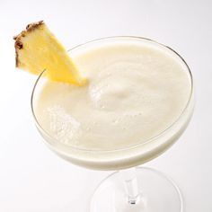 Monkeylada Recipe - If you like piña coladas, try this lower-calorie version using ripe bananas blended with fresh pineapple and coconut milk. Serve it in festive tropical-drink glasses.