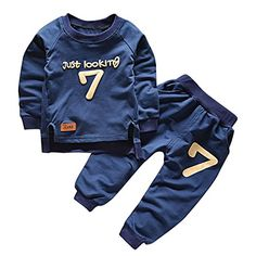 Puseky Toddler Baby Boys Girls Sweatshirt TopsPants Tracksuits Outfits Clothes 4T5T * Continue to the product at the image link. (This is an affiliate link)