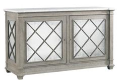 LA17053-01 Addison 2 Door Server Carrera Top W 60 D 22 H 34 #5Foot Lillian August Fine Furnishings #MirrorFront #Showroom