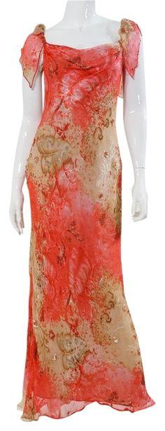 Victoria Royal Ltd Beige Pink Vintage Print Chiffon Beaded Gown Maxi Long Formal Dress Size 4 (S) Beaded Chiffon, Beaded Gown, Dress Vintage, Vintage Pink, Floral Gown, Pink Beige, Print Chiffon, Luxury Fashion, Fashion Tips