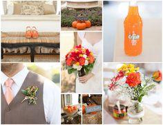 #rustic #wedding,#diy, #orange, #pumpkins, #weddingflowers