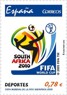 FIFA - South Africa 2010 Spain stamp