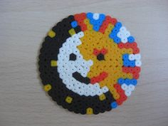 Sun Moon coaster hama beads by Ursula