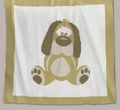 Crochet Pattern | Baby Blanket - Dog (Chart)