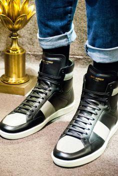 storeJUMP JUMP DANCE DANCE #saintlaurent #sneaker #hightops #blackandgold