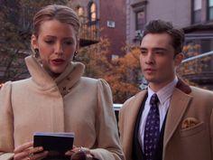 Serena Van Der Woodsen Gossip Girl and Chuck Bass camel coats
