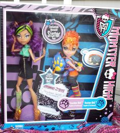 $35 Monster High CLAWDEEN HOWLEEN 2 Pack Dolls Pet SISTERS TARGET EXCLUSIVE 2011