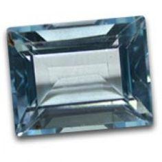 Buy natural Sky Blue Topaz Gemstone in 6 to 4mm size Baguette shape.