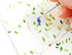 Simple #Watercolor Tree Art Tutorial | The Postman's Knock