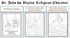 The Brown Scapular And Our Lady Of Mt Carmel Crafts Activities Coloring Pages