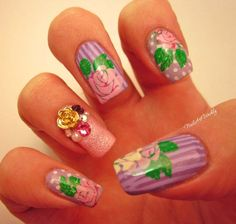 """Nail Art Weekly: """"A Mother's Loves"""" Quad Stamped Skittle Design. Click """"Visit…"""