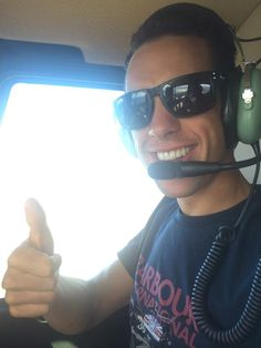 Richie Porte - in a helicopter - over Tasmania!