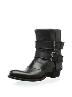 Sendra Women's Debora Fold Over Double Buckle Boot (Black)
