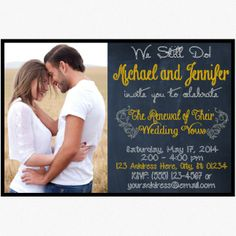 Have a wedding vow renewal ceremony soon? Send out these cute invitations to show your guest what the party is all about!  ********************************************************  You will be purchasing a personalized invitation delivered as a high resolution .jpg file. Want to know how this...