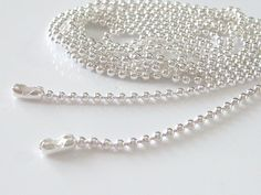 Shiny Silver Plated Ball Chains Necklace 18 inch 1.5mm ...Great for Scrabble Tiles, Glass Tile Pendant, Bottle Caps and more...... $10