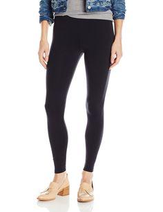 "David Lerner Women's Basic 8"" Rise Legging, Black, M. Leggings. Basic 8' rise legging."