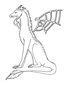 Dragon Lineart 170811 by ~BlackCatKaya on deviantART