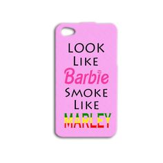 Cute Pink Bob Marley 420 Funny Phone Case iPhone 4 4s 5s 5 5c 6 Plus Apple