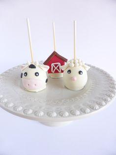 Cakepops para aniversário com tema animais da quinta (organizado pela Lima Limão)