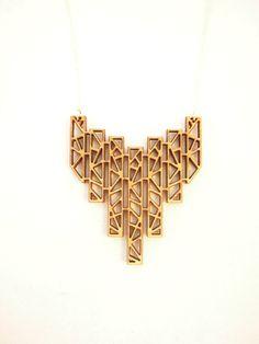 Icicles - Long Necklace, Laser Cut Necklace. $48.00, via Etsy.