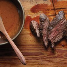 Easy Steak Sauce with Seared Hanger Steak Recipe