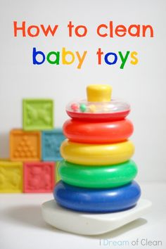 If you have kids, then you know how gross their toys can get. This is why it is good to give them a regular cleaning. Not sure how? Here is a simple way to clean baby toys. #cleaningtips #baby #toys